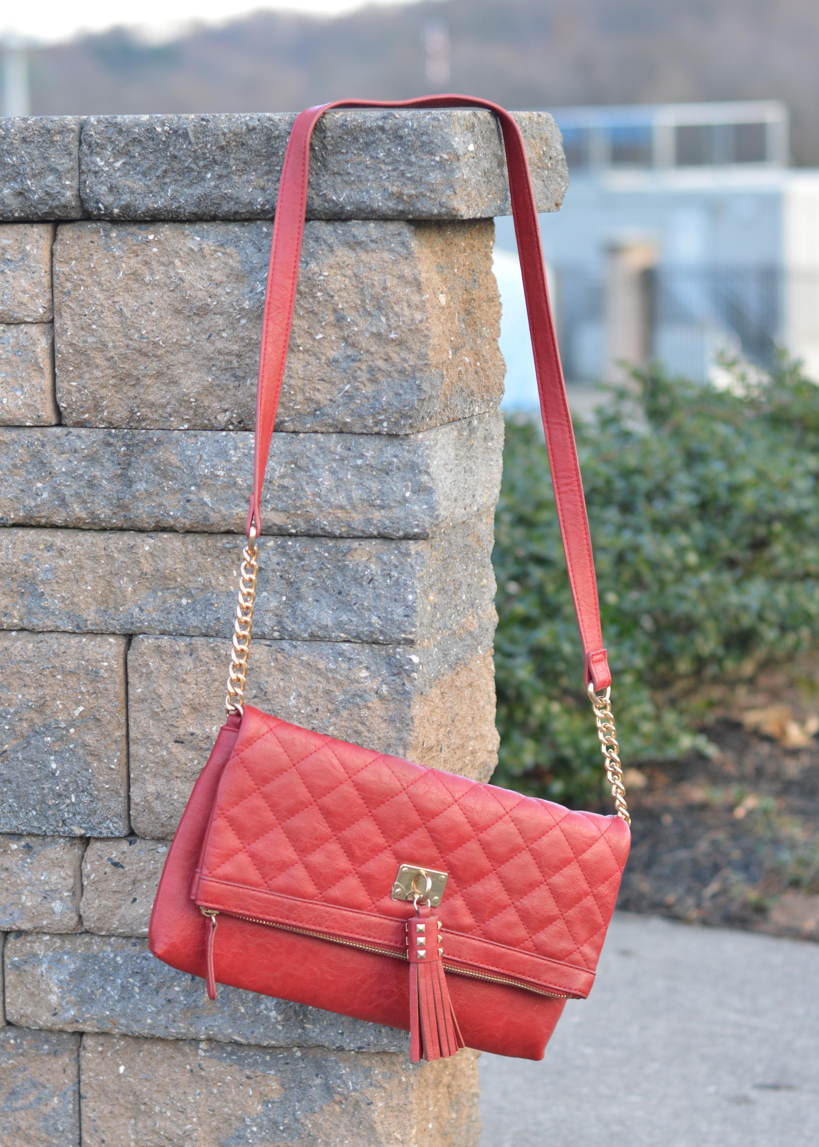 Zara Accessory SUMMER Clutch Teal Red Make Up Bag Statement Bold Travel